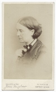 Jean Ingelow, by Elliott & Fry, late 1860s - NPG x12122 - © National Portrait Gallery, London