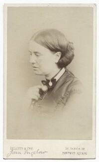 Jean Ingelow, by Elliott & Fry, late 1860s - NPG x12122 - © National Portrait Gallery, London