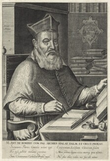 Marco Antonio de Dominis, possibly by Renold or Reginold Elstrack (Elstracke), published by  John Bill, after  Michiel Jansz. van Miereveldt - NPG D25965