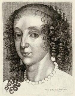 Henrietta Maria, by Wenceslaus Hollar, after  Sir Anthony van Dyck - NPG D32072