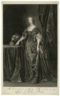 Henrietta Maria, by and published by Pieter Stevens van Gunst, after  Sir Anthony van Dyck - NPG D32075