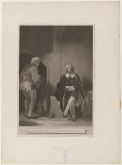 'Charles I imprisoned in Carisbrook Castle' (King Charles I), by George Noble, after  Robert Smirke - NPG D32078