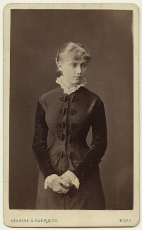 Edith Plowden, by Bourne & Shepherd - NPG x129617