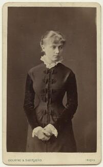 Edith Plowden, by Bourne & Shepherd - NPG x129617