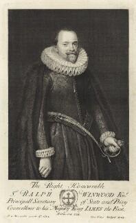 Sir Ralph Winwood, by George Vertue, 1723 - NPG D26045 - © National Portrait Gallery, London