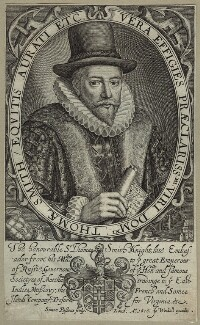 Sir Thomas Smythe (Smith), by Simon de Passe, published by  John Woodall - NPG D26047