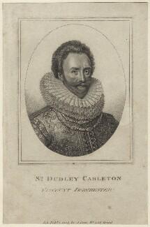 Dudley Carleton, Viscount Dorchester, published by John Scott, after  Michiel Jansz. van Miereveldt - NPG D26051