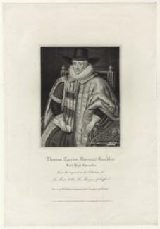 Thomas Egerton, 1st Viscount Brackley, by Robert Cooper - NPG D26061