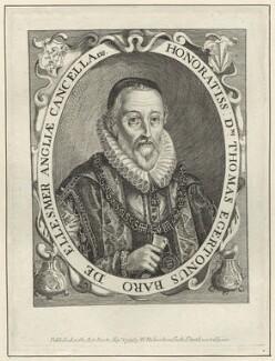 Thomas Egerton, 1st Viscount Brackley, published by William Richardson, after  Simon de Passe - NPG D26062