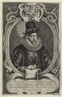 Francis Bacon, 1st Viscount St Alban, after Simon de Passe, published circa 1638 - NPG D26068 - © National Portrait Gallery, London