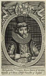 Francis Bacon, 1st Viscount St Alban, by Frederick Hendrik van Hove, after  Simon de Passe - NPG D26069