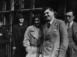 Aneurin Bevan; Jennie Lee; Sir Archibald James Lush and an unknown woman, by George Woodbine, for  Daily Herald - NPG x131120