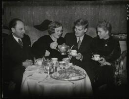 Marcel Ciampi, Hephzibah Menuhin, Yehudi Menuhin and Yaltah Menuhin, by Edward Malindine, for  Daily Herald - NPG x131122