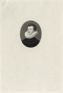 Francis Bacon, 1st Viscount St Alban, by William Henry Worthington, after  Nicholas Hilliard - NPG D26071