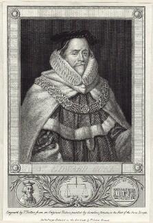 Sir Edward Coke, by Thomas Trotter, published by  Thomas Cadell the Elder, after  Cornelius Johnson (Cornelius Janssen van Ceulen) - NPG D26086