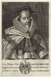 Sir Edward Coke, by or after Michael Vandergucht - NPG D26091