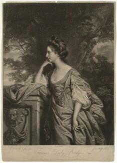 Frances (née Fowler), Lady Bridges, by James Watson, after  Francis Cotes - NPG D32099