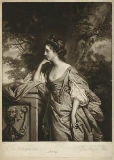Frances (née Fowler), Lady Bridges, by James Watson, after  Francis Cotes - NPG D32100