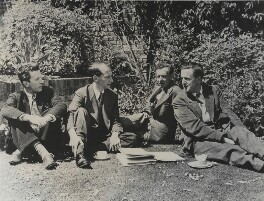 Sir Frederick Ashton, Eric John Crozier, Benjamin Britten and Peter Pears, by Unknown photographer - NPG x131141