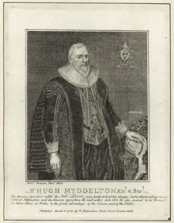 Sir Hugh Myddelton, 1st Bt, published by William Richardson, after  Cornelius Johnson (Cornelius Janssen van Ceulen) - NPG D26127
