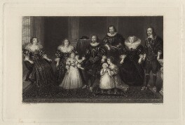 The Villiers Family, by William Greatbach, after  George Perfect Harding - NPG D26130