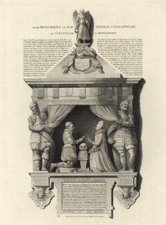 Monument of Sir Thomas Chaloner the Younger at Chiswick in Middlesex, published by Robert Wilkinson - NPG D26131