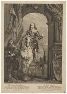 King Charles I; Pierre Antoine Bourdon, Seigneur de St Antoine, by and published by Joseph Sympson (Simpson), after  Sir Anthony van Dyck - NPG D31971