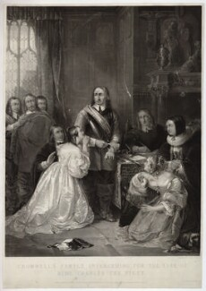 'Cromwell's family interceding for the life of King Charles the First', by James Scott, published by  Thomas Boys, after  William Fisk - NPG D32080