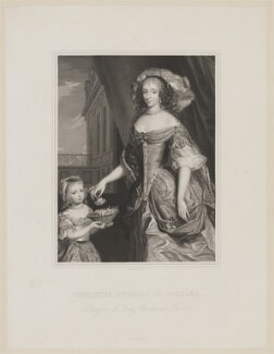 Henrietta Anne, Duchess of Orleans; Mary Charlotte Gage (née Bond), Lady Gage, by Joseph Brown, after  Unknown artist - NPG D32110