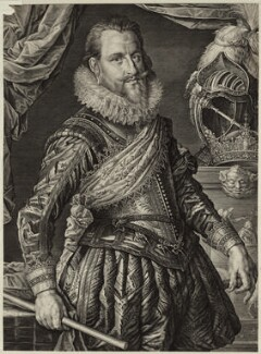 Christian IV, King of Denmark and Norway, by Willem Jacobsz Delff, after  Michiel Jansz. van Miereveldt - NPG D26194