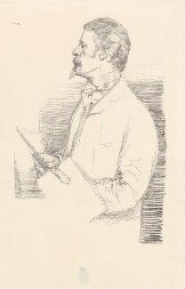 Walter Crane, by Sir William Rothenstein, 1897 - NPG D32128 - © National Portrait Gallery, London