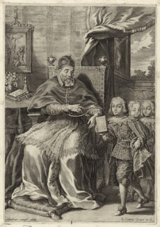 Pope Urban VIII (Maffeo Barbarini), by Johann Friedrich Greuter, after  Andrea Camassei - NPG D26209
