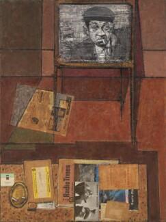 Sid James, by Ruskin Spear, 1962 - NPG 6820 - © estate of Ruskin Spear / Bridgeman Art Library www.bridgemanart.com