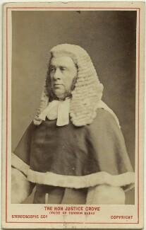 Sir William Robert Grove, by London Stereoscopic & Photographic Company - NPG Ax28443