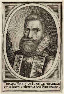 Thomas van Erpe (known as Thomas Erpenius), after Unknown artist - NPG D26279