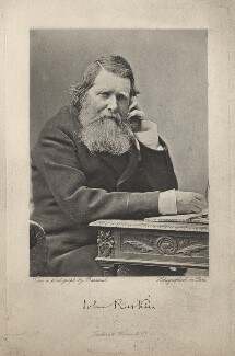 John Ruskin, by Frederick Warne & Co, after  Herbert Rose Barraud - NPG x36243