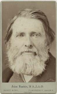 John Ruskin, by Elliott & Fry - NPG x13293