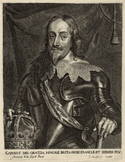 King Charles I, by Johannes Meyssens, after  Sir Anthony van Dyck - NPG D26304