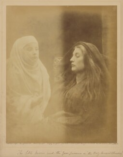 'The little Novice with the Queen Guinevere in the Holy House at Almesbury', by Julia Margaret Cameron - NPG x18032