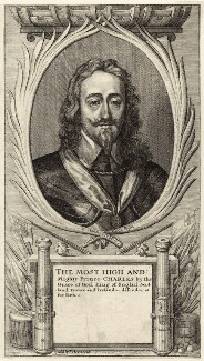 King Charles I, by Wenceslaus Hollar, sold by  Peter Stent - NPG D26310