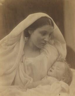 'La Madonna Riposata, Resting in Hope' (Mary Ann Hillier; Percy Seymour Keown), by Julia Margaret Cameron - NPG x18025