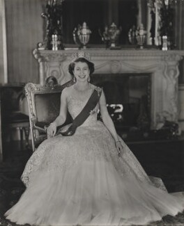Queen Elizabeth II, by Baron (Sterling Henry Nahum), for  Camera Press: London: UK, 1953 - NPG  - © Baron/Camera Press