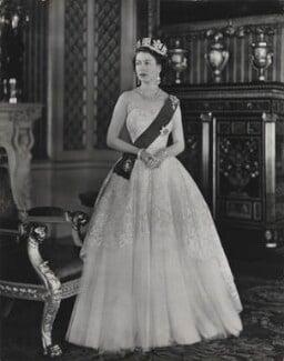 Queen Elizabeth II, by Baron (Sterling Henry Nahum), for  Camera Press: London: UK, 1953 - NPG x131147 - © Baron/Camera Press