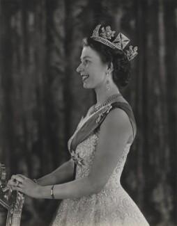 Queen Elizabeth II, by Baron (Sterling Henry Nahum), 1953 - NPG  - © Baron/Camera Press