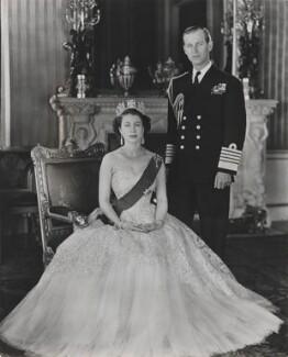 Queen Elizabeth II; Prince Philip, Duke of Edinburgh, by Baron (Sterling Henry Nahum), for  Camera Press: London: UK, 1953 - NPG x131149 - © Baron/Camera Press