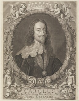 King Charles I, by Robert White, printed and sold by  John King, after  Sir Anthony van Dyck - NPG D26318