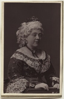 Pattie Oliver as Mrs Candour in 'The School For Scandal', by Elliott & Fry - NPG Ax7617