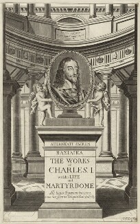 King Charles I in the title to ''The Works of Charles I'', by Abraham Hertochs (Hertocks) - NPG D26331