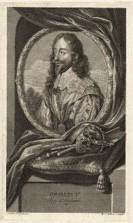King Charles I, by Benoit Audran the Elder, after  Sir Anthony van Dyck - NPG D26335