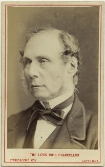 Roundell Palmer, 1st Earl of Selborne, by London Stereoscopic & Photographic Company - NPG Ax28451